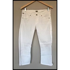 Citizens of Humanity, white Capri jeans, size 27